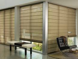 Curtains For Sliding Glass Doors With Vertical Blinds Bamboo Roman Shades For Sliding Glass Doors Choice Image Glass