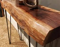 Walnut Live Edge Table by Live Edge End Table Etsy