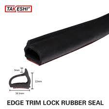car black rubber interior exterior edge trim foam adhesive tape