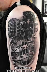 Bass Guitar Tattoo Ideas Best 25 Microphone Tattoo Ideas Only On Pinterest Mic Tattoo