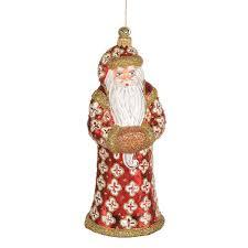 jinglenog european glass santa ornaments