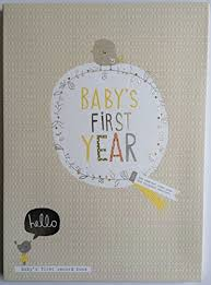 baby 1st year book hallmark baby year keepsake record book gift boxed new