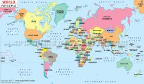world politic map political map of the world for explaining and kid