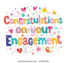 congratulations on your engagement card congratulations on your engagement card stock vector 423831058