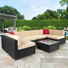 Round Sectional Patio Furniture - in the living