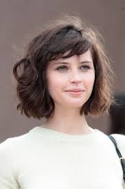 medium haircut thick wavy with bangs trend medium short hairstyles