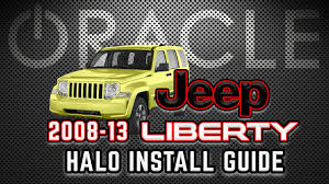 2012 jeep liberty light bar d i y install 2008 2013 jeep liberty oracle led halos youtube