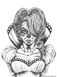printable coloring pages sugar skulls sexy sugar skull flowers coloring pages printable