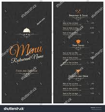 restaurant menu design vector brochure template stock vector