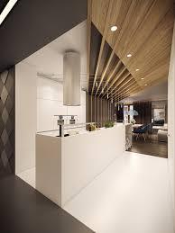 Kitchen Ceiling Designs by Dramatic Interior Architecture Meets Elegant Decor In Krakow