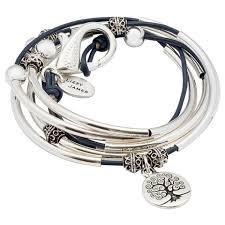 leather wrap bracelet with charm images April leather wrap bracelet with tree of life charm lizzy james jpg
