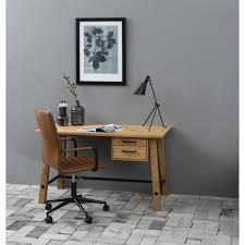 table de bureau design scandinave en bois coloris chêne bureau