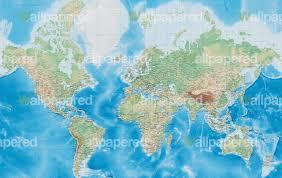 World Map Mural Standard World Map Wallpaper World Map Mural
