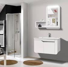armadietto bagno con specchio mobile bagno arredo bagno completo pensile 80cm bianco lavabo