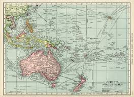 Map Of Oceania Maps Old Design Shop Blog