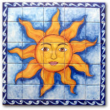 mexican tile lomeli sun 1 25 pcs mural various backsplash