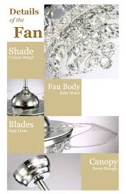 flower lampshade ceiling fan y4225 retractable blades silver