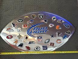 bud light tin signs budlight nfl all teams texans large beer tin sign bud light
