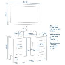 Standard Height Of Bathroom Vanity by Large Size Of Bathroom Sinkawesome Bathroom Sink Dimensions