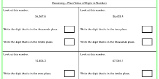 place value of digits in numbers ks2 reasoning test practice