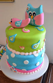 owl and lovebird baby shower cakecentral com