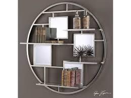 Uttermost Metal Wall Decor Uttermost Alternative Wall Decor Zaria Mirrored Round Wall Shelf