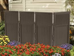 amazon com suncast fsw4423 4 panel resin wicker outdoor screen