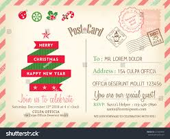 vintage merry christmas holiday postcard background stock vector