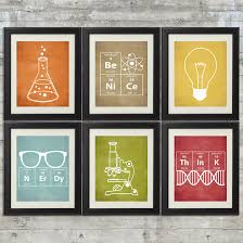 Nerd Home Decor Nerdy Science Art Set Of 6 8x10 Instant By Printsandprintables