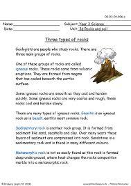 rock types worksheet worksheets