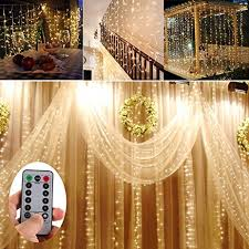 amazon com battery operated 300 led curtain lights outdoor string