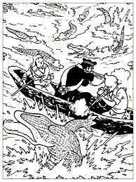 free coloring page coloring drawing inspired by tintin drawing