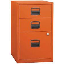 Home Filing Cabinet Bisley Three Drawer Steel Home Or Office Filing Cabinet Orange