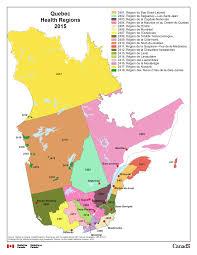 Health Map 5 Quebec Health Regions Health Regions 2015