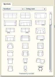 free furniture icons for floor plans