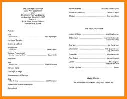 Wedding Ceremony Program Template Free 7 Free Wedding Program Templates Nurse Resumed