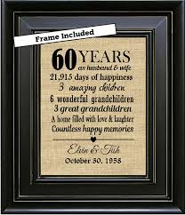 60th anniversary gifts framed 60th wedding anniversary 60th anniversary gifts 60th