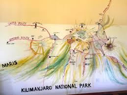 Mt Kilimanjaro Map Around The Bend Friends Hiking Club Of Las Vegas Mt Kilimanjaro