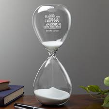 engraved office gifts personalized keepsake hourglass professional