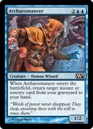 target black friday battlefield archaeomancer creature human wizard 1 2 for cmc 4 when