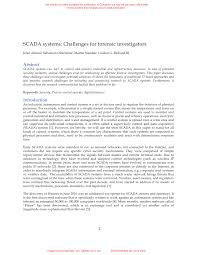 scada systems challenges for forensic investigators