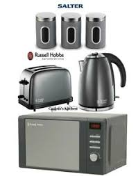 Toaster Kettle Set Russell Hobbs Microwave Kettle And Toaster 3 Piece Salter