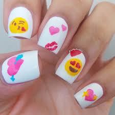 50 valentine u0027s day nail art ideas emojis emoji nails and makeup