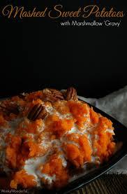 Sweet Potato Recipe For Thanksgiving With Marshmallows Mashed Sweet Potato Casserole Recipe Wonkywonderful