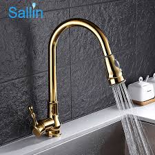brass kitchen faucets gold kitchen faucet pull out brass kitchen tap single handle spray