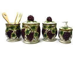 grape kitchen canisters grape kitchen canisters 25 images 3 grape canister set 3 pcs