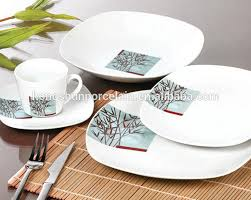 32 dinnerware setsquare blue leaves 32 dinnerware set