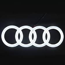 audi rings audi led front emblem badge rings logo white lights car a1 a3 a4