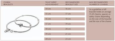 pandora bracelet size images Pandora bracelet size guide chart jpg
