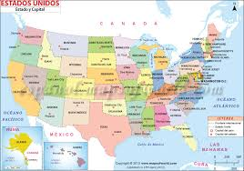 map usa y canada mapa de los estados unidos